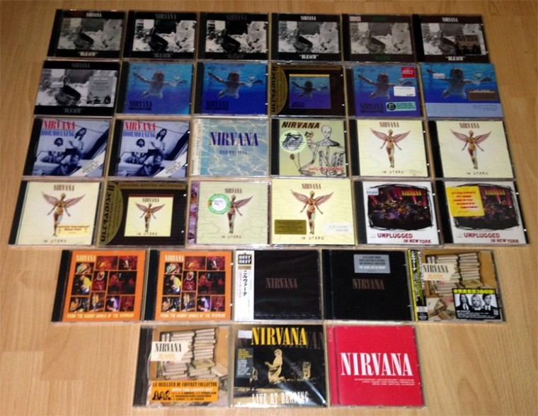 collection CD nirvana