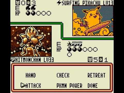 Trading Card Game sur Game Boy Color Collectionner les cartes Pokémon
