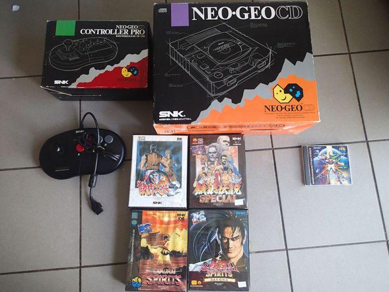 console neo geo cd jap complet mint jeux retro jap