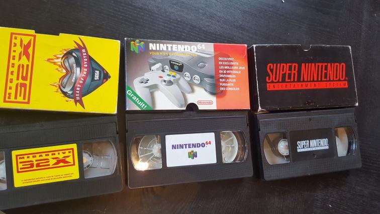 Cassettes VHS promotionnelles console Nintendo Megadrive