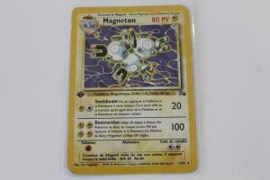 Magneton Edition 1 Fossile Carte Pokemon Rare Holo
