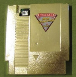 cartouche nes rare saint graal nes world championship nintendo 1990 or dorée numero