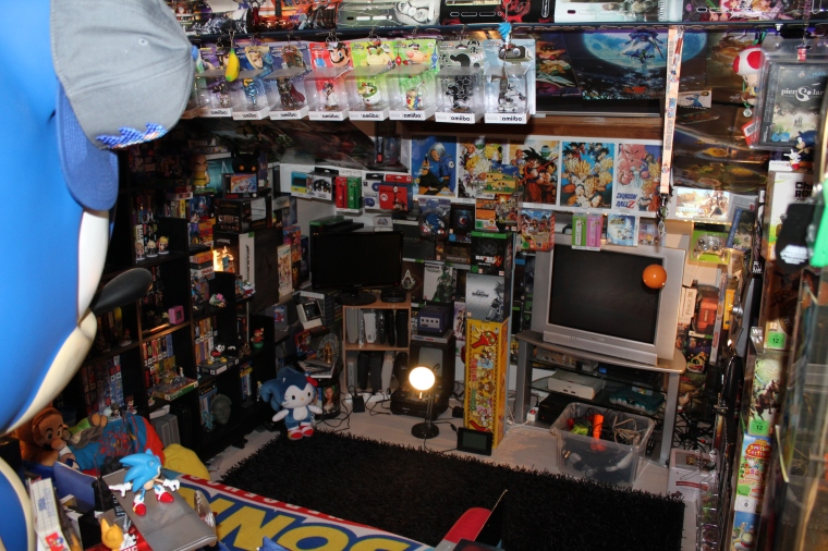 collection cedric acksell sonic sega nintendo sony holdies gameroom jeux video retrogaming