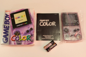 game boy color violette translucide nintendo