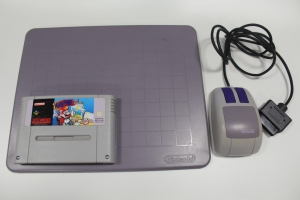 mario paint super nintendo souris tapis