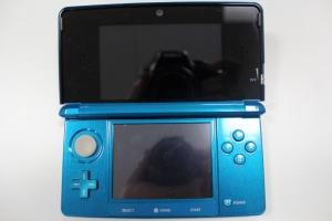 nintendo 3ds aqua blue console