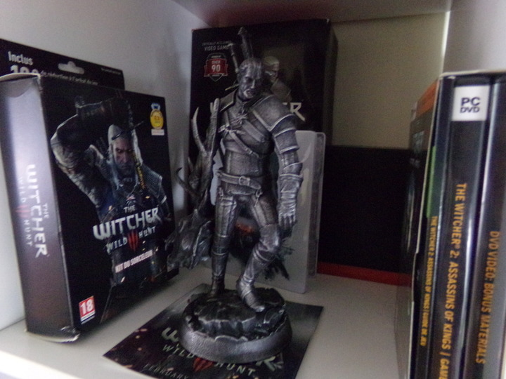 figurine Geralt, the witcher, jeux rétro, retrogaming, collectionneur, collectionneuse retro gaming, blogueuse