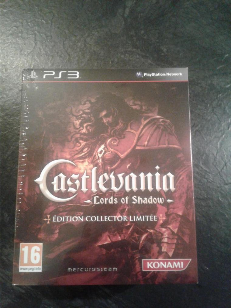 collector ps3 castlevania lords of shadow ultra rare neuf blister