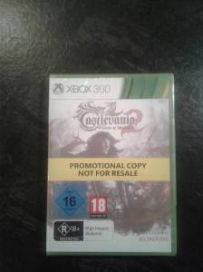 Castlevania lords of shadow 2 xbox360 not for sale promo disc