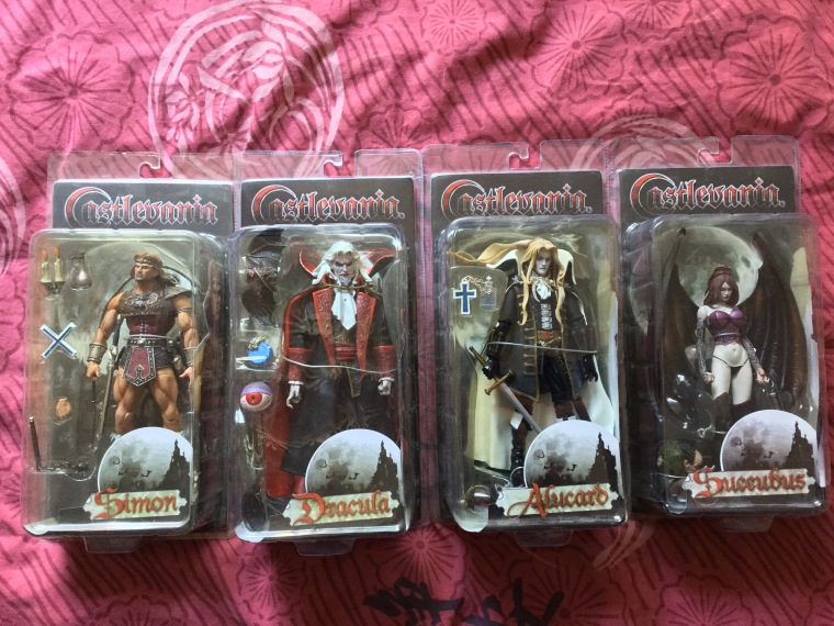 figurines castlevania, figurines simon castlevania, figurine dracula castlevania, figurine alucard castlevania, figurine succubus castlevania