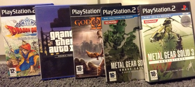 Playstation 2, collection playstation, collection jeux vidéo, metal gear, GTA