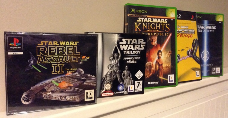 jeux ps1, jeux ps2, collection sony, collection playstation, collection star wars