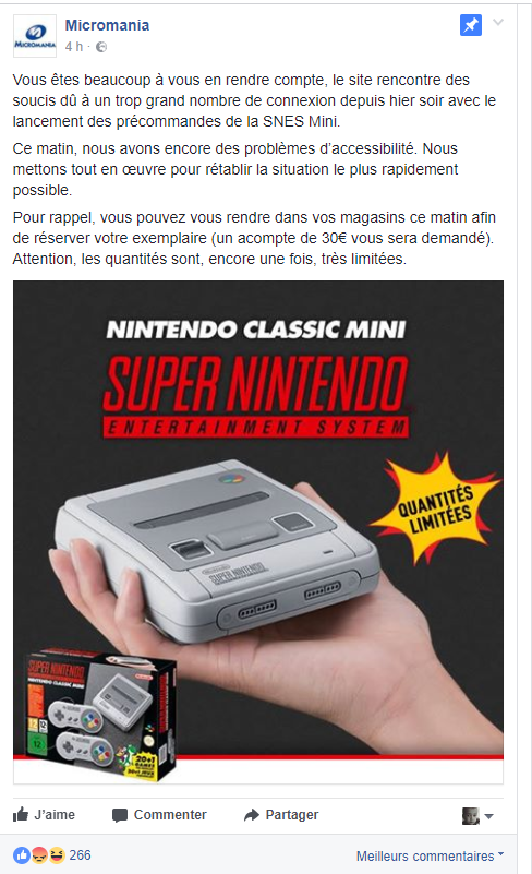 Micromania Mini SNES